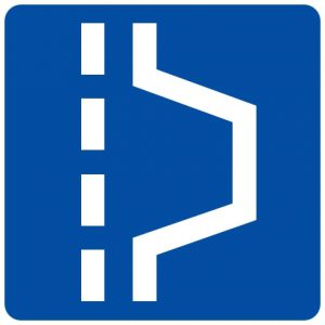 Ceļa zīme - Nr. 554 Piespiedu apstāšanās vieta