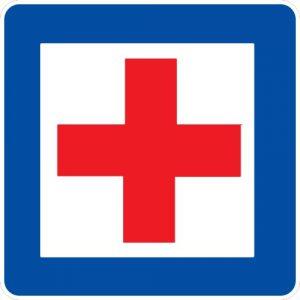 Ceļa zīme - Nr. 601 Medicīniskās palīdzības punkts