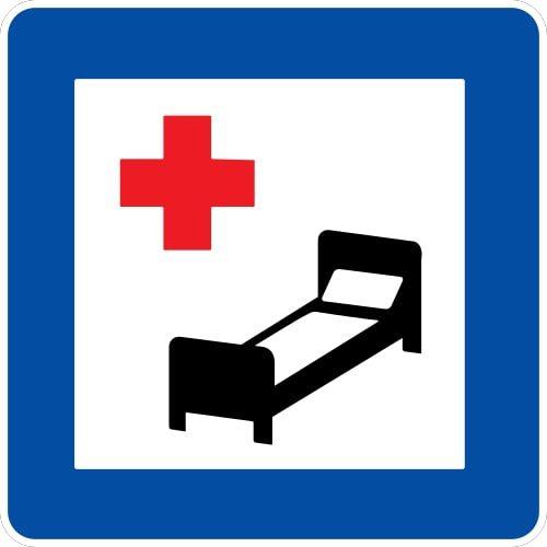 Ceļa zīme - Nr. 602 Slimnīca