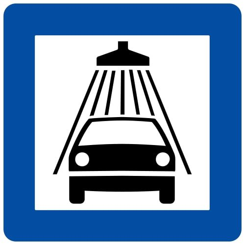 Ceļa zīme - Nr. 606 Automobiļu mazgātava