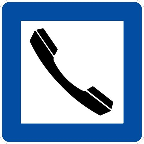 Ceļa zīme - Nr. 607 Telefons