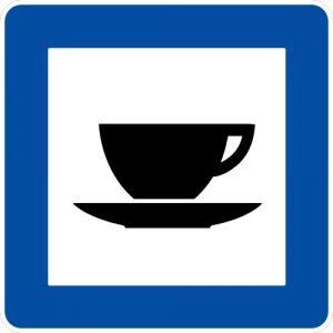 Ceļa zīme - Nr. 609 Kafejnīca