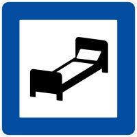 Ceļa zīme - Nr. 610 Viesnīca, motelis vai viesu māja