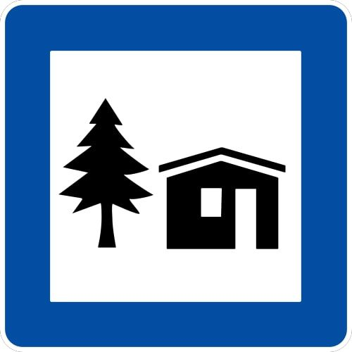 Ceļa zīme - Nr. 611 Jaunatnes tūrisma mītne