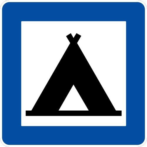 Ceļa zīme - Nr. 612 Kempings