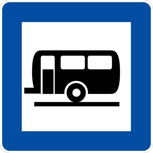 Ceļa zīme - Nr. 613 Kempingpiekabju stāvvieta