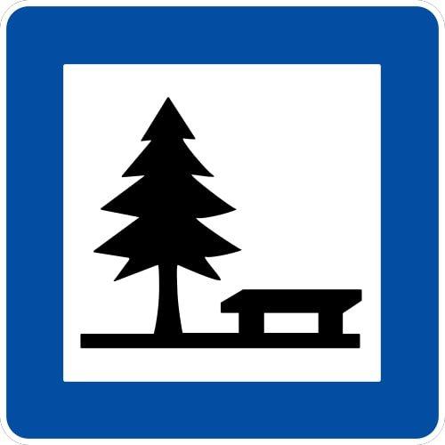 Ceļa zīme - Nr. 615 Atpūtas vieta