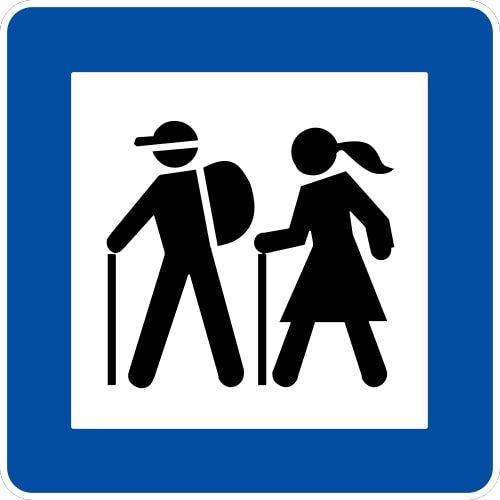 Ceļa zīme - Nr. 616 Gājēju maršruts