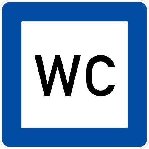 Ceļa zīme - Nr. 617 Tualete
