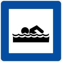 Ceļa zīme - Nr. 618 Peldvieta vai peldbaseins