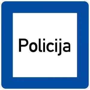 Ceļa zīme - Nr. 620 Policija