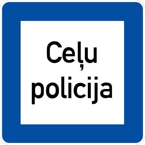 Ceļa zīme - Nr. 621 Ceļu policija