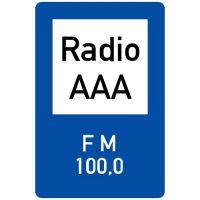 Ceļa zīme - Nr. 623 Radiokanāls ceļa satiksmes informācijas sniegšanai