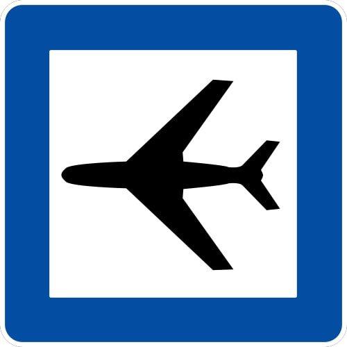Ceļa zīme - Nr. 624 Lidosta (lidlauks)