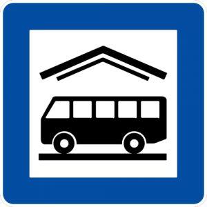 Ceļa zīme - Nr. 625 Autoosta