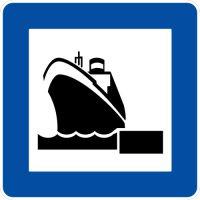 Ceļa zīme - Nr. 627 Jūras pasažieru stacija