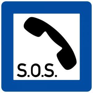 Ceļa zīme - Nr. 633 Avārijas tālrunis
