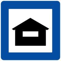 Ceļa zīme - Nr. 634 Lauku tūrisma mītne