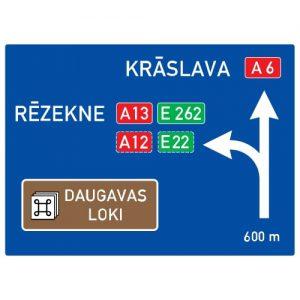 Ceļa zīme - Nr. 701 Iepriekšējs virzienu rādītājs