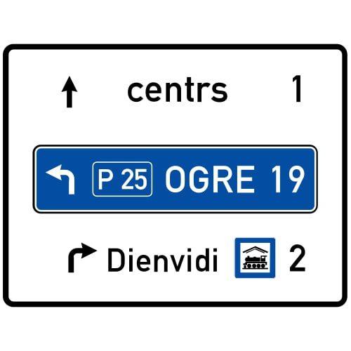 Ceļa zīme - Nr. 703 Virzienu rādītājs