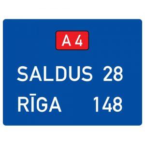 Ceļa zīme - Nr. 707 Attālumu rādītājs