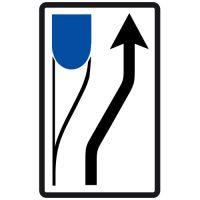 Ceļa zīme - Nr. 710 Šķēršļa apbraukšanas virziens