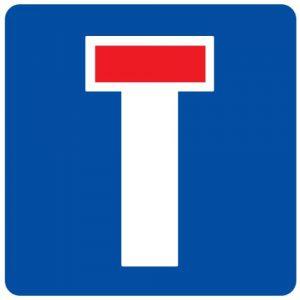 Ceļa zīme - Nr. 711 Strupceļš