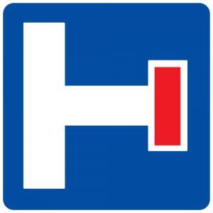 Ceļa zīme - Nr. 712 Iepriekšējs virziena rādītājs strupceļam
