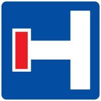 Ceļa zīme - Nr. 713 Iepriekšējs virziena rādītājs strupceļam