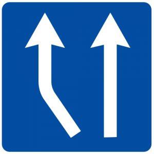 Ceļa zīme - Nr. 715 Joslas sākums