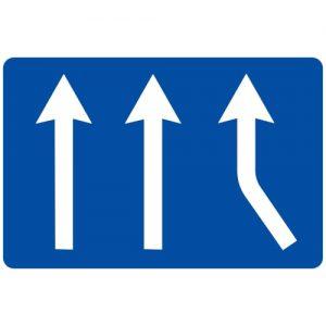 Ceļa zīme - Nr. 721 Joslas piekļaušanās pamatjoslām