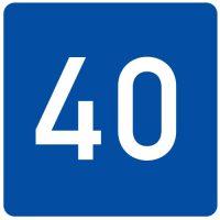 Ceļa zīme - Nr. 725 Ieteicamais ātrums
