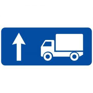 Ceļa zīme - Nr. 726 Kravas automobiļu braukšanas virziens
