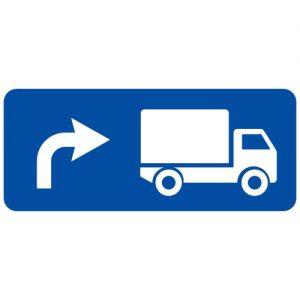 Ceļa zīme - Nr. 727 Kravas automobiļu braukšanas virziens