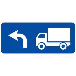 Ceļa zīme - Nr. 728 Kravas automobiļu braukšanas virziens