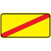 Ceļa zīme - Nr. 734 Apbraukšanas ceļa beigas