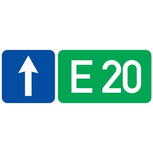 Ceļa zīme - Nr. 743 Ceļa numurs un virziens