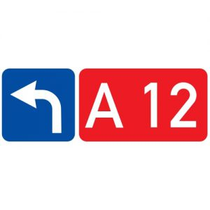 Ceļa zīme - Nr. 744 Ceļa numurs un virziens