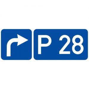 Ceļa zīme - Nr. 745 Ceļa numurs un virziens