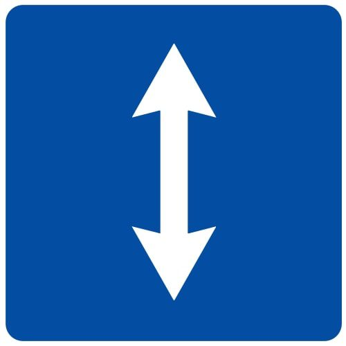 Ceļa zīme - Nr. 746 Maiņvirziena satiksme