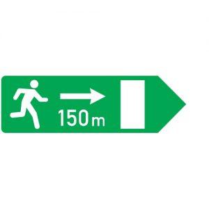 Ceļa zīme - Nr. 753 Avārijas izejas virziens