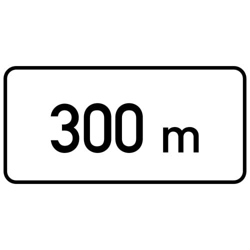 Ceļa zīme - Nr. 801 Attālums līdz objektam