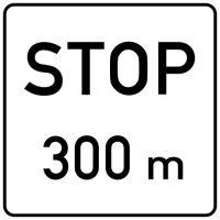 Ceļa zīme - Nr. 802 Attālums līdz objektam