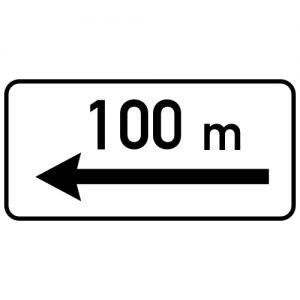 Ceļa zīme - Nr. 804 Darbības zona