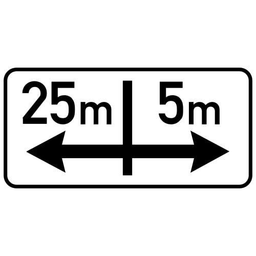 Ceļa zīme - Nr. 805 Darbības zona