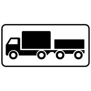 Ceļa zīme - Nr. 819 Transportlīdzekļa veids