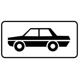 Ceļa zīme - Nr. 820 Transportlīdzekļa veids