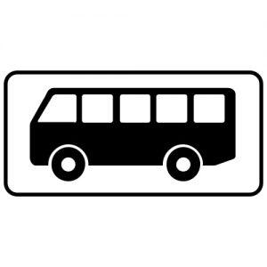 Ceļa zīme - Nr. 821 Transportlīdzekļa veids