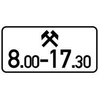 Ceļa zīme - Nr. 828 Darbības laiks