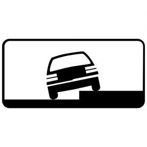 Ceļa zīme - Nr. 830 Transportlīdzekļa novietojuma veids stāvvietā